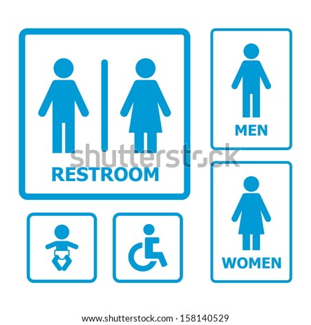 Bathroom Signs Vector restroom sign vector art free download free vector download