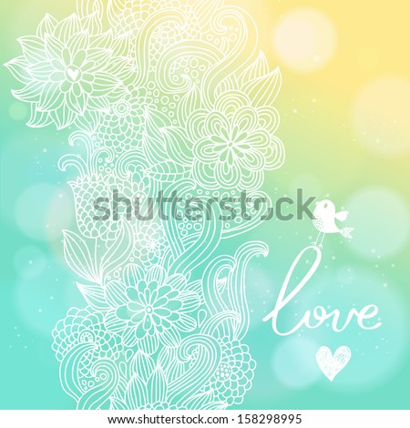 bright floral background in