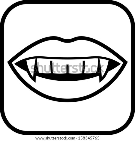 vampire teeth vector