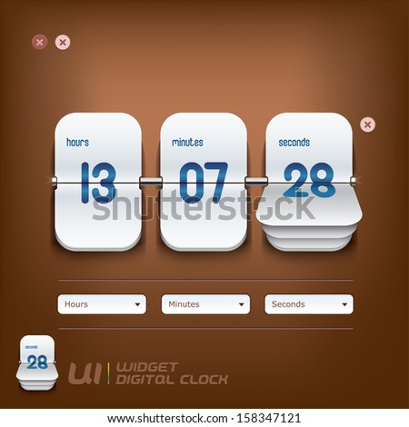 digital clock illustration