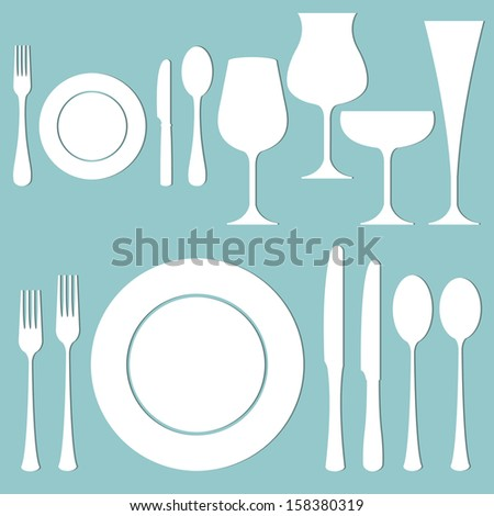 vector set of formal dinner on