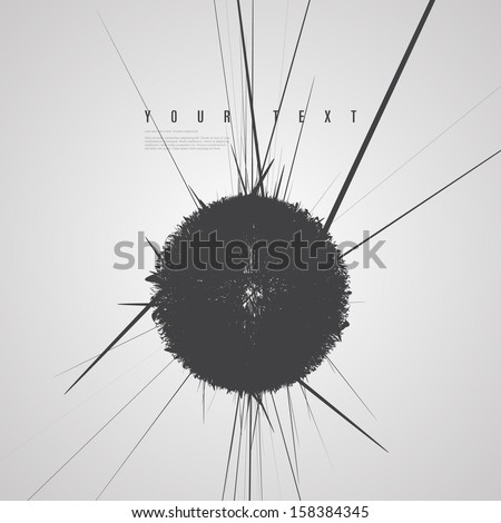 minimal abstract black sphere