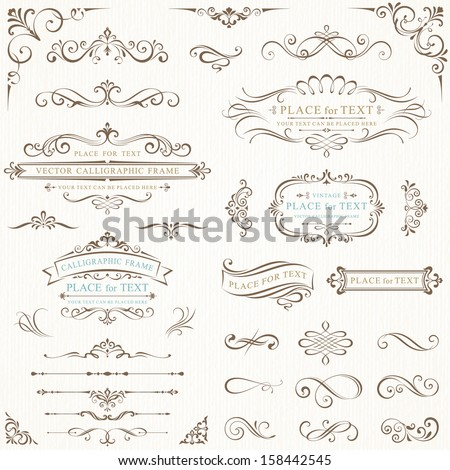 ornate frames and scroll