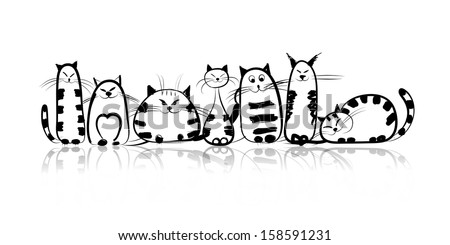 funny cats family for your