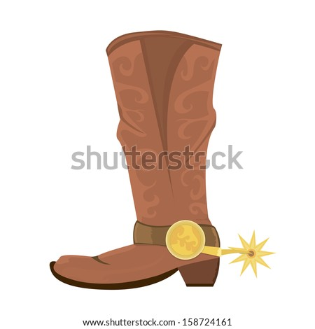 vector illustration of cowboy
