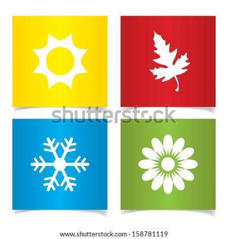 vector season symbols