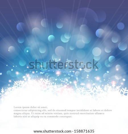 vector winter bokeh background
