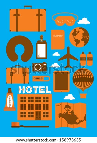 travel accessories vector