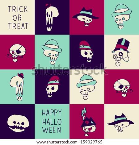 halloween funny skulls