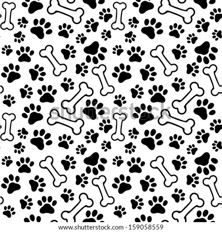 seamless background   pet paw