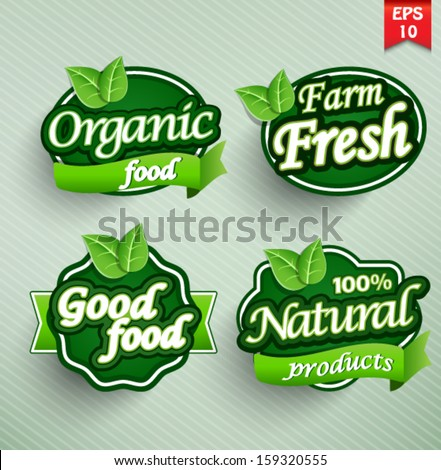 farm fresh food label  badge or