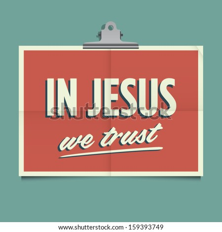 in jesus we trust  folded