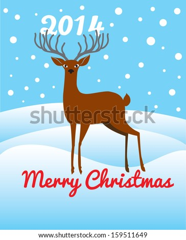 christmas deer with horn