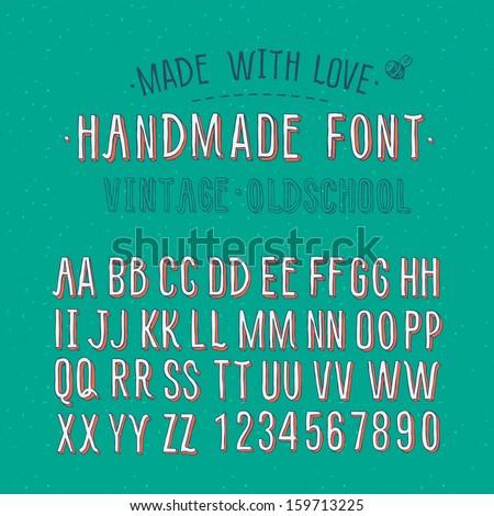 handmade vintage alphabet