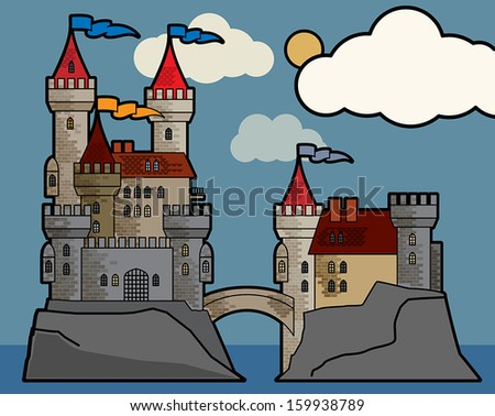 castle fairy tale  vector