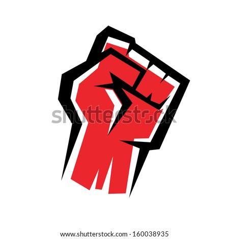 fist stylized vector icon