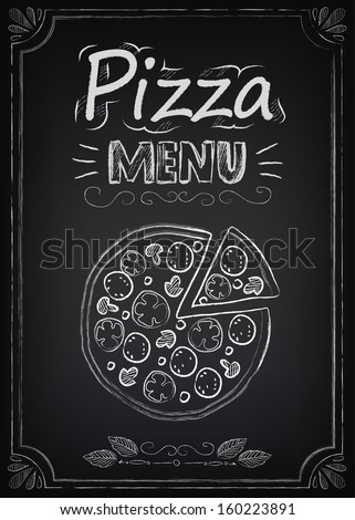pizza illustration of a