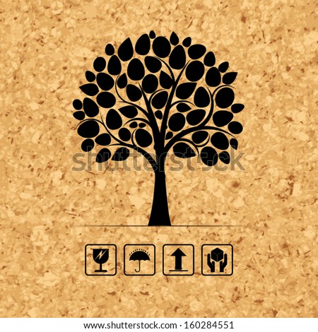 abstract tree symbol on brown