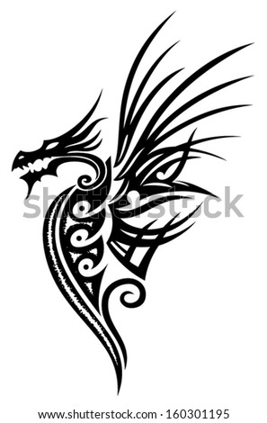 fantasy dragon with wings