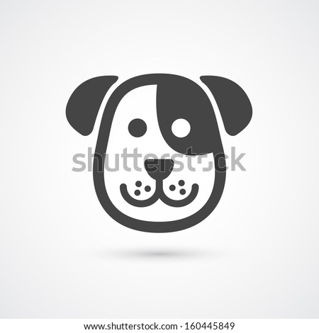 dog icon  vector element for
