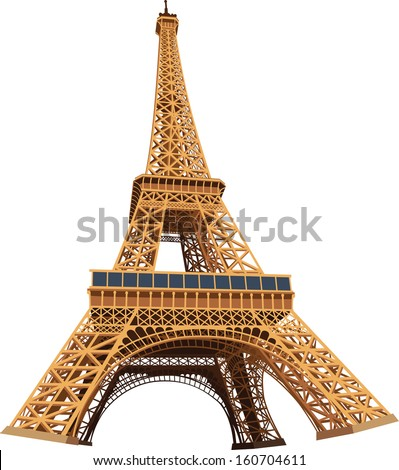 eiffel tower 3d vector