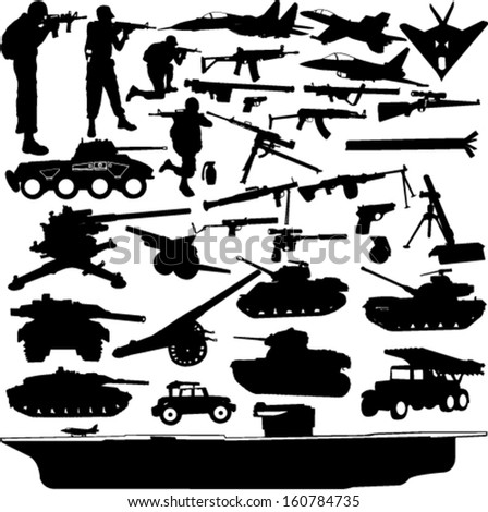 military objects collection