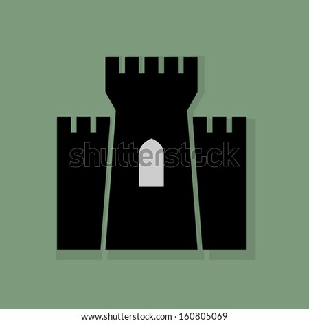 castle icon or sign  vector