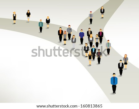 a big group of people finding