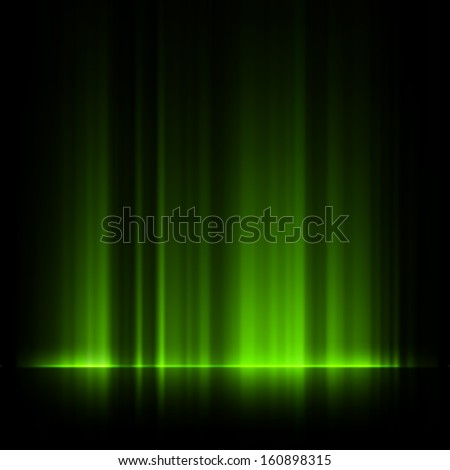 green northern lights  aurora