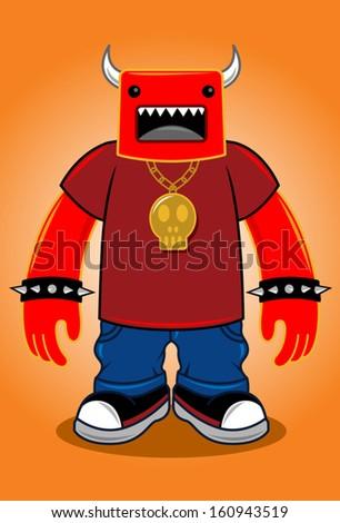 devil man cartoon character
