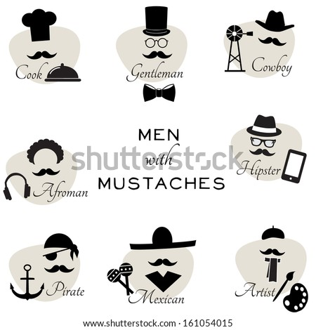 men with mustaches   funny