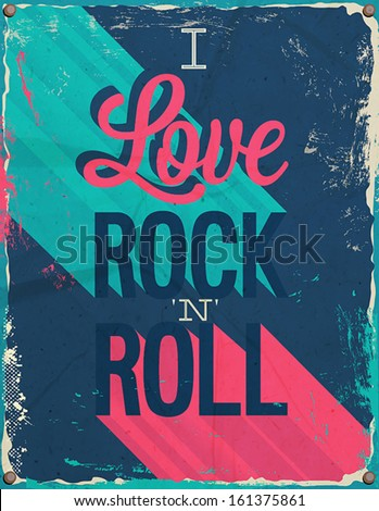 i love rock and roll vector