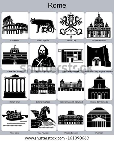 landmarks of rome set of