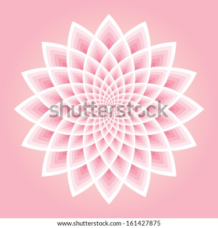 pink lotus pattern vector