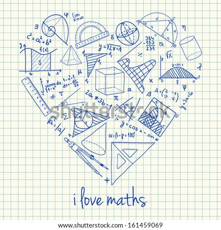 illustration of maths doodles