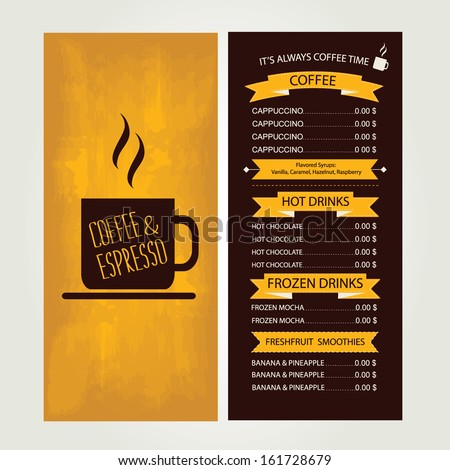 Vector cafe menu template free vector download 12941 Free vector – Cafe Menu Templates Free Download