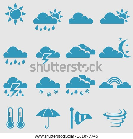 weather icons setvector