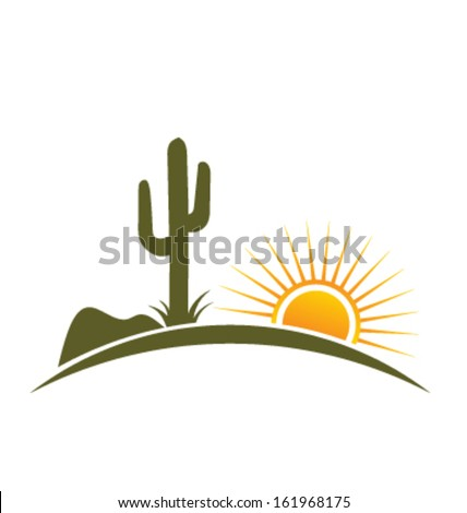 desert design elements with sun
