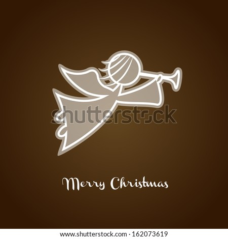 christmas angel silhouette