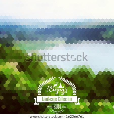 vector  blure landscape with