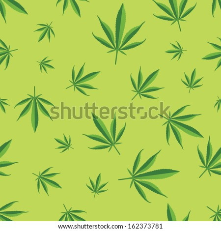 marijuana leaf seamless pattern