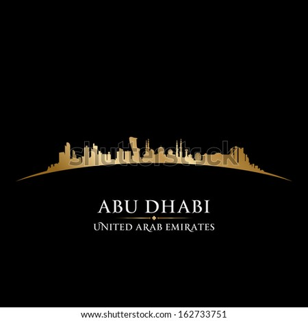 abu dhabi uae city skyline