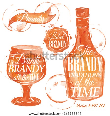 pointer drawn pour brandy with
