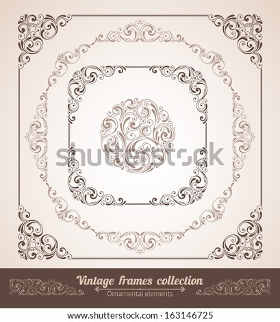 set of ornate frames with