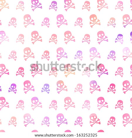seamless skull pattern in
