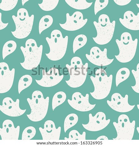 funny ghost seamless pattern