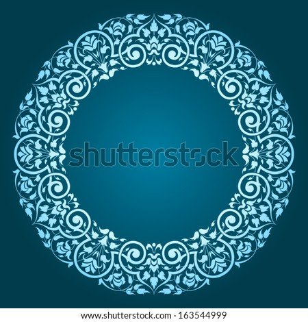 lace circle oriental ornament