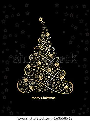 christmas tree of music  vector
