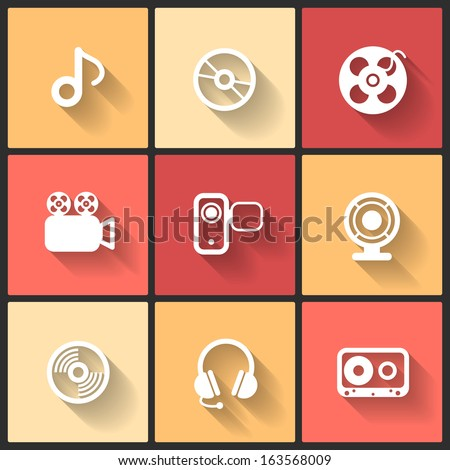 vector design flat icons for