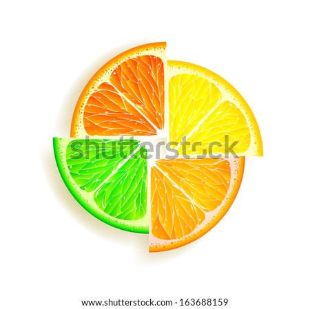 lemon  orange  lime and